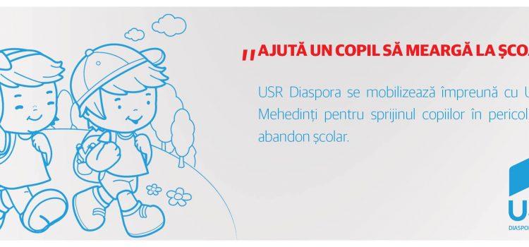 Prima zi de școală. Proiect susținut de USR Diaspora.