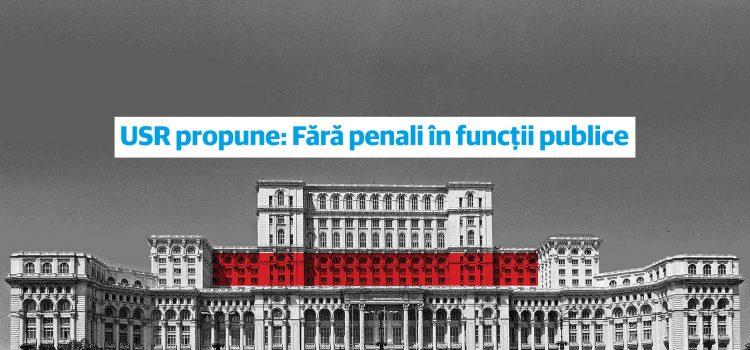 """Uniunea Salvați România inițiază strângerea de semnături pentru inițiativa: """"Fără penali în funcții publice"""""""