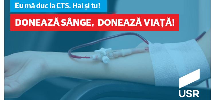 USR Mehedinți a continuat azi campania de donare de sânge începută anul trecut