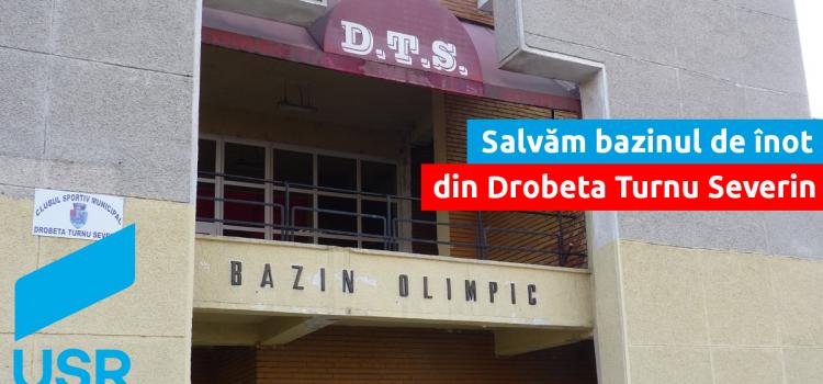 USR cere lămuriri privind reabilitarea bazinului de înot din Drobeta Turnu Severin