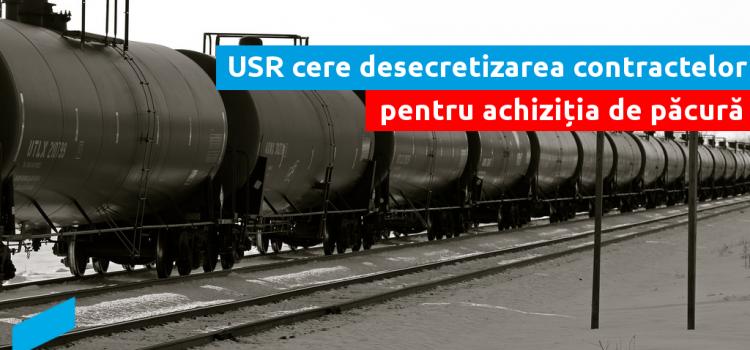 USR cere desecretizarea contractelor pentru achiziția de păcură