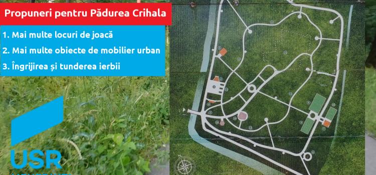 USR propune soluții pentru îmbunătățirea condițiilor din Pădurea Crihala